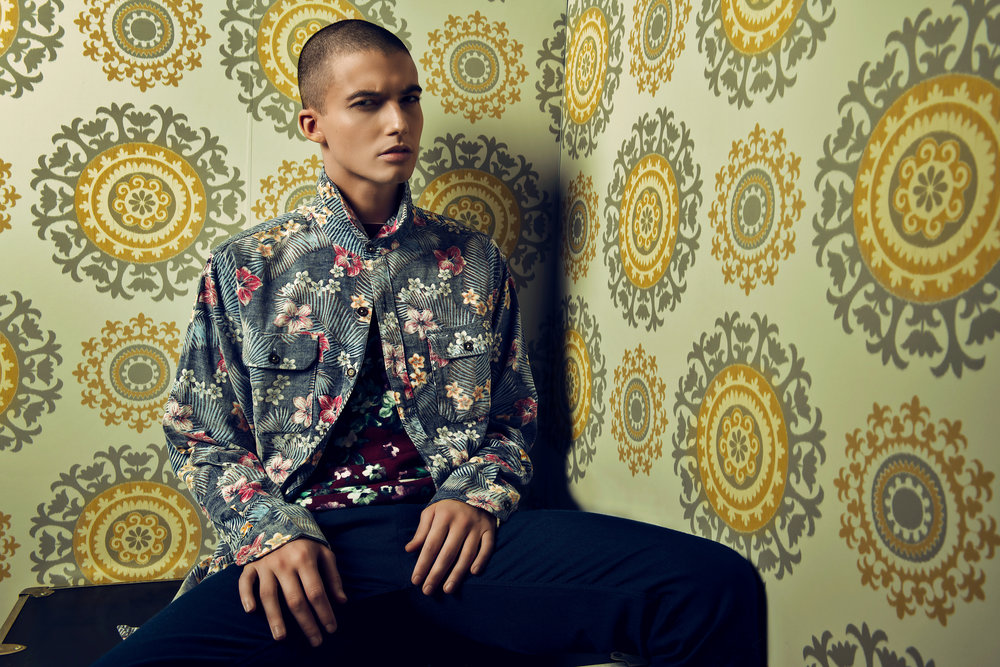 FLORAL SHIRT: TOMMY BAHAMA /TOP / BOTTOMS: TED BAKER .Guild Magazine - Copyright 2018