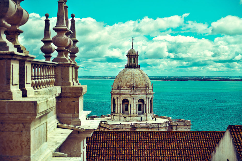 VIEW OF THE NATIONAL PANTHEON OF LISBON FROM THE MONASTERY OF SAO VICENTE DE FORA. Guild Magazine - Copyright 2018
