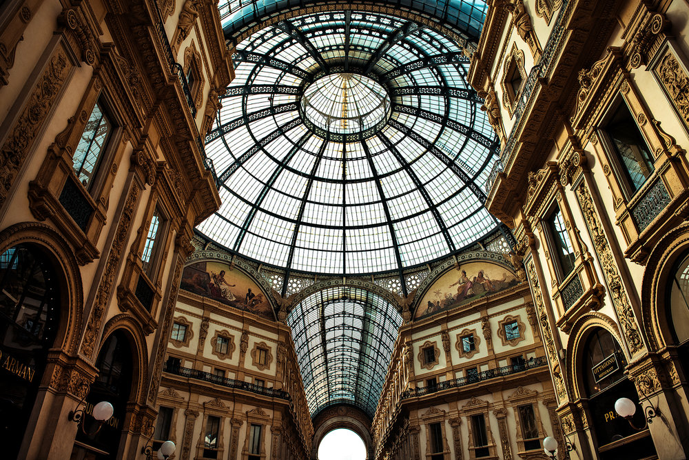 © Guild Magazine - 2018. The iron-and-glass ceiling of the Galleria is a classic representation of 19th century arcades.