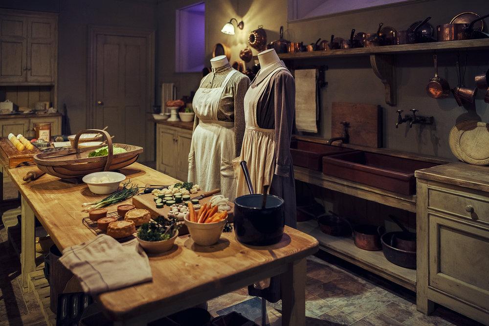 Mrs. Patmore's kitchen. © Guild Magazine - 2018.