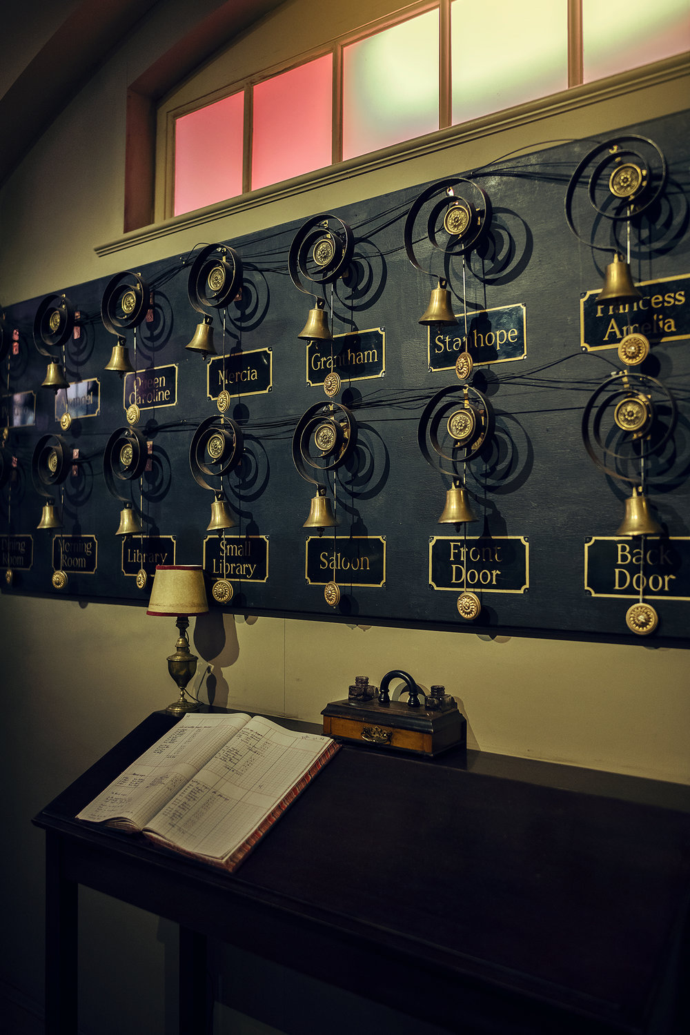 The bell board at Downton Abbey. © Guild Magazine - 2018.