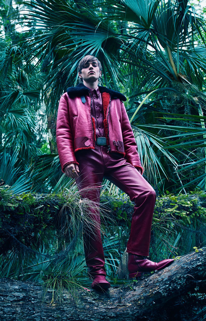 Model Felix Prabitz for Roberto Cavalli.