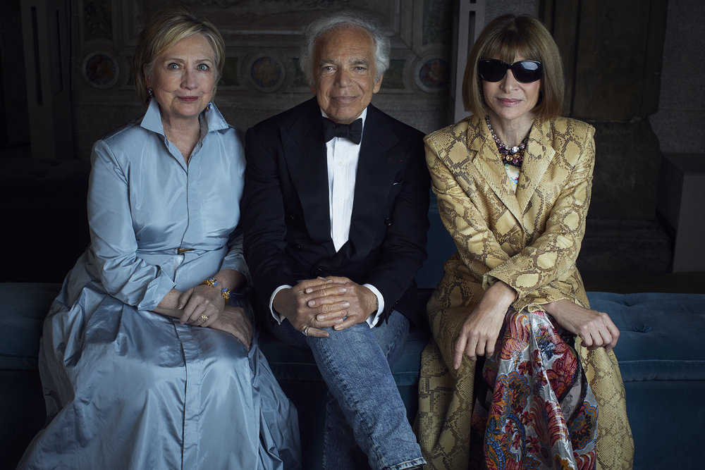 Hillary Clinton, Ralph Lauren, and Anna Wintour. NYFW / Photography and videos courtesy of Ralph Lauren and TVC.