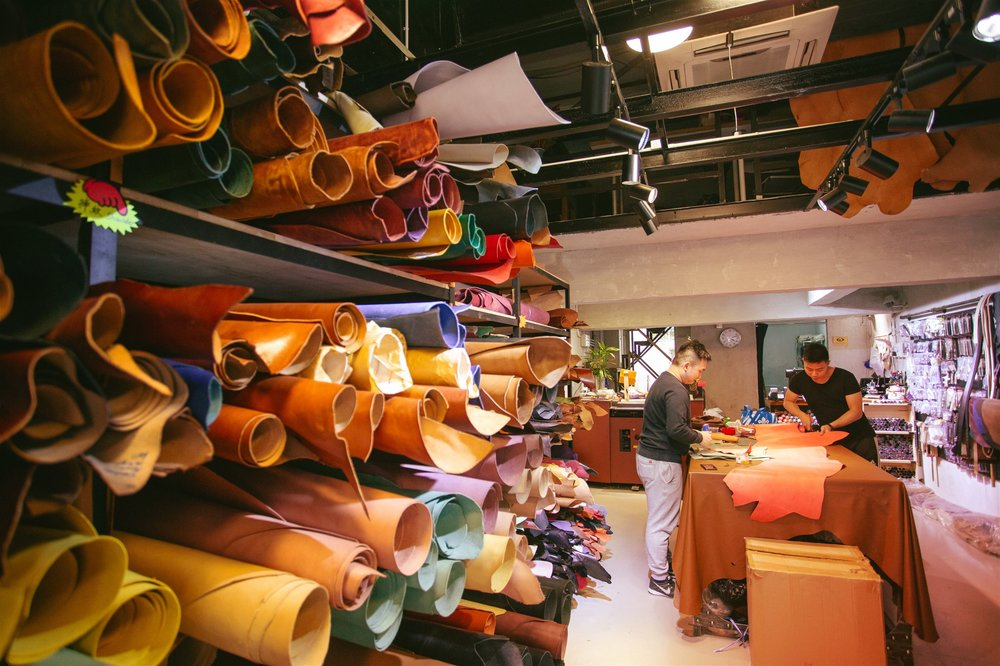The Arli Star Leather Factory in the Sham Shui Po District, Hong Kong @ Alex Rodriguez for Hong Kong Tourism Board (HKTB).