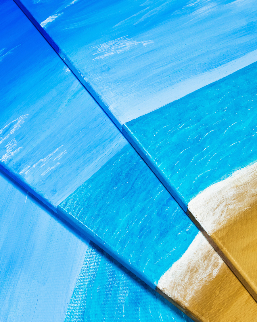 TRANQUILITY BEACH, ACRYLIC ON CANVAS - 12 X 24 IN EACH. Guild Magazine - Copyright 2018
