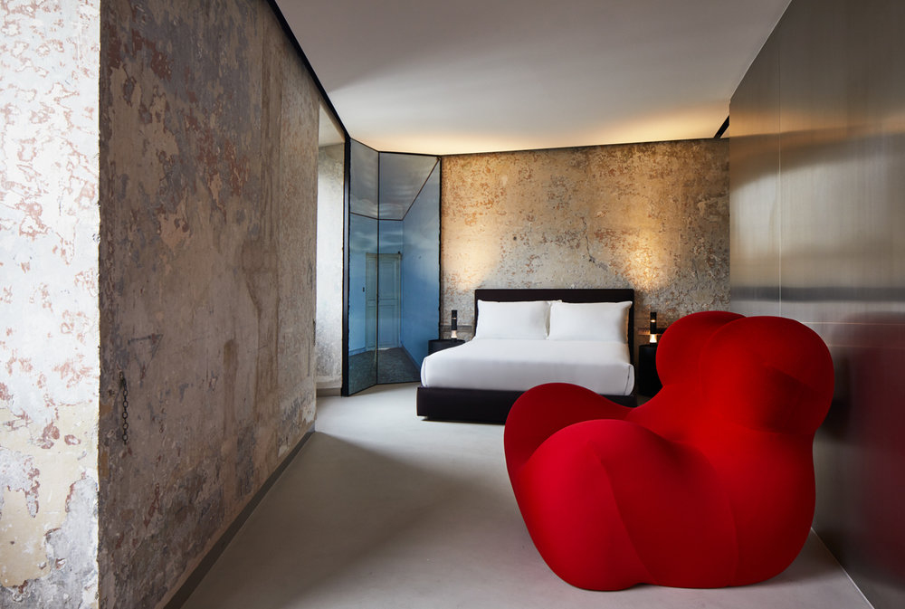 The rooms were designed and furnished by architect Jean Nouvel.