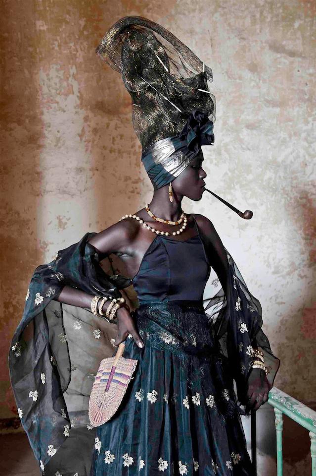 Fabrice Monteiro, b. 1972, Namur, Belgium. Works in Dakar, Senegal.  Signare #1.  2011. Exhibition print. Courtesy of Mariane Ibrahim Gallery.