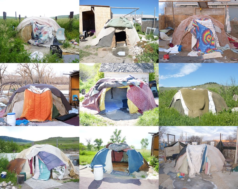 My Home is Where My Tipi Sits , (Series of 5 photographs), 2011. © Wendy Red Star.