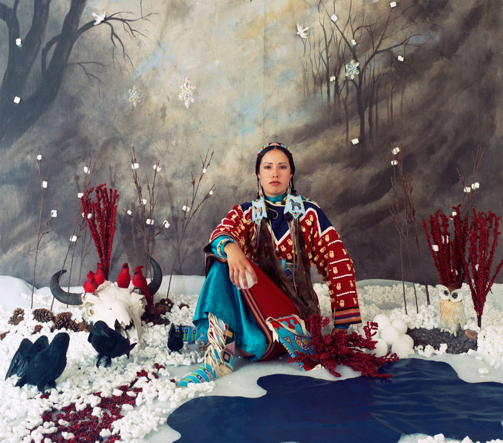 Wendy Red Star,  Winter—The Four Seasons Series , 2006. Archival pigment print on sunset fiber rag, 23 x 26 in. (58.4 x 66 cm). The Newark Museum, Gift of Loren G. Lipson, M.D., 2016  2016.46.1.3 ©  Wendy Red Star.