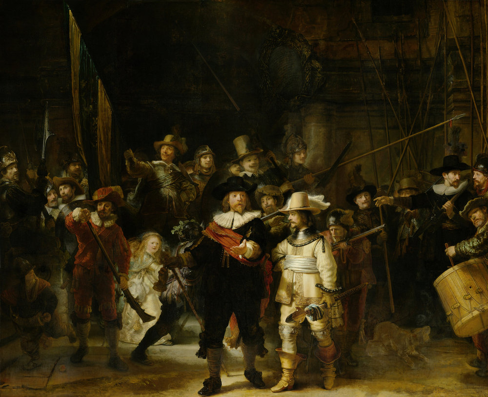 The Night Watch by Rembrandt. Image courtesy of the Rijksmuseum Museum.