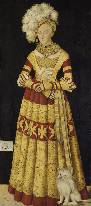 Dresden, Alte Meister. Lucas Cranach the Elder, Catherine of Mecklenburg.