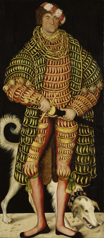 Dresden, Alte Meister. Lucas Cranach the Elder, Henry the Pious, Duke of Saxony.