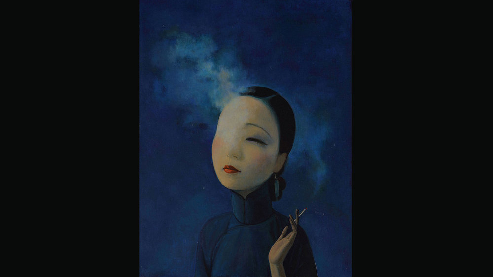 The Goddess, 2018 Acrylic on canvas 60x45 cm Private Collection, Beijing. Photo: Cao Yong (曹勇).