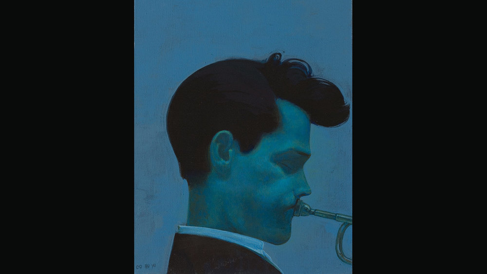 Chet Baker, 2009 Acrylic on Canvas 40x30 cm, Private Collection, Beijing.