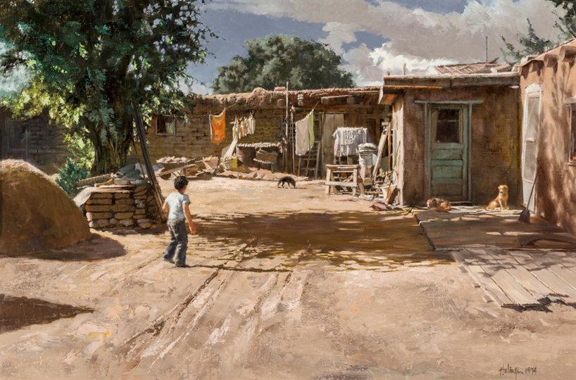 Tesuque Mayor's Backyard, 1974, Oil on canvas, 20 x 30 inches (50.8 x 76.2 cm)
