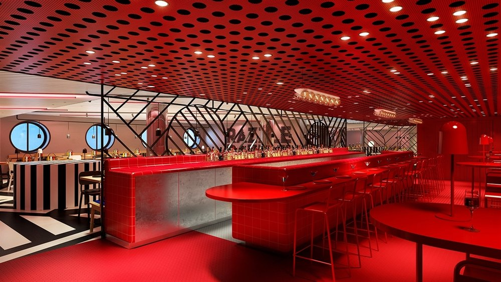 The Razzle Dazzle Restaurant is one of the 9 restaurants and bar on the Scarlet Lady.