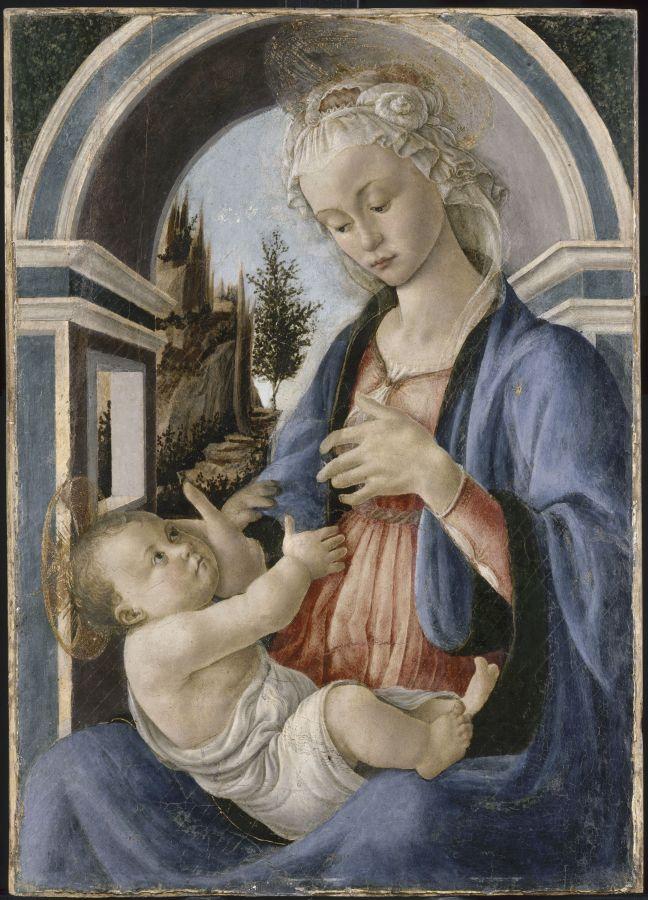 Sandro Botticelli, la Vierge et l'Enfant, Département des peintures, musée du Louvre © RMN Grand Palais (musée du Louvre)