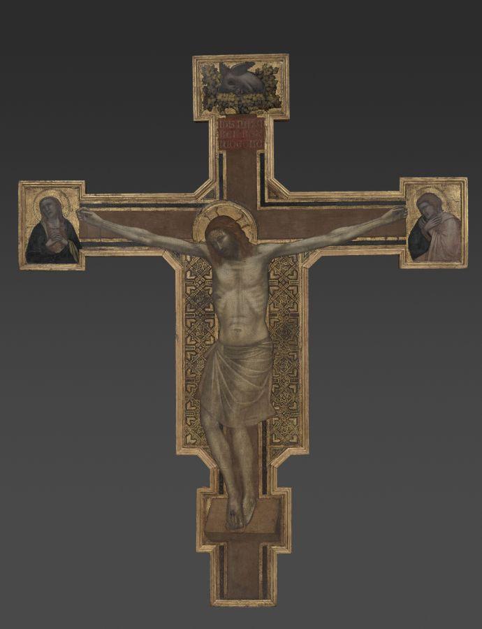 Giotto. Croix peinte. Département des Peintures- musée du Louvre RMN-Grand Palais musée du Louvre l Adrien Didierjean