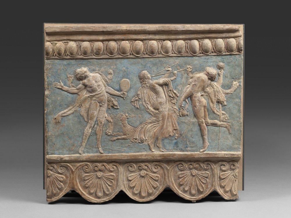Plaque Campana Terre cuite Vers 1-50 ap- J–C- Paris musee du Louvre departement des Antiquites grecques etrusques et romaines Musee du Louvre dist- RMN – Grand Palais