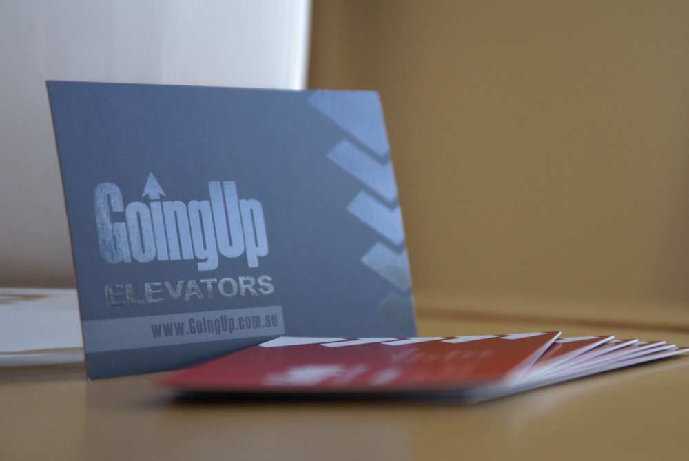 Going Up Spot UV Business Cards Front.JPG