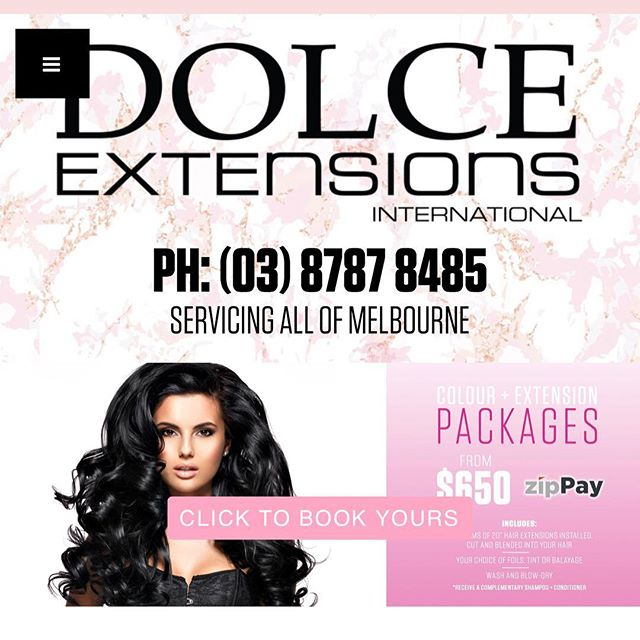 CLIENTS: Dolce Hair Extensions Melbourne 🔒 - Job Closed - Book now for support...