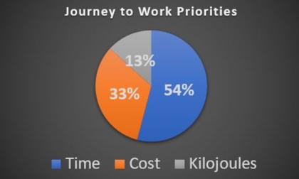 Figure 4 – Journey to work priorities