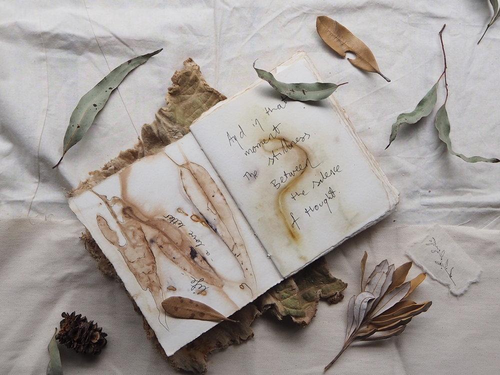 Ellie Beck eco printed art journal quote.JPG