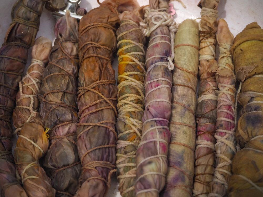 Ellie beck Petalplum Botanical dye bundle wrap fabric.JPG