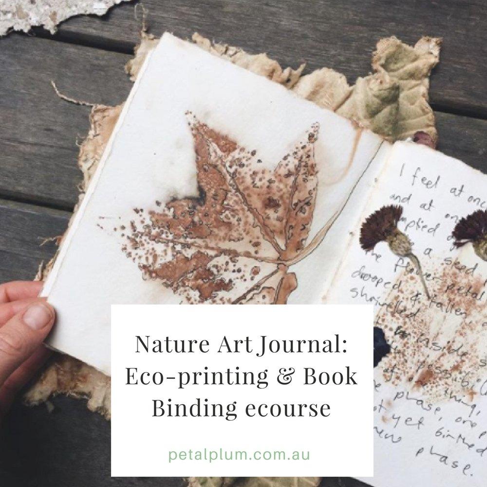 Nature Art Journal - Eco-printing & Simple Bookbinding : $59AU -