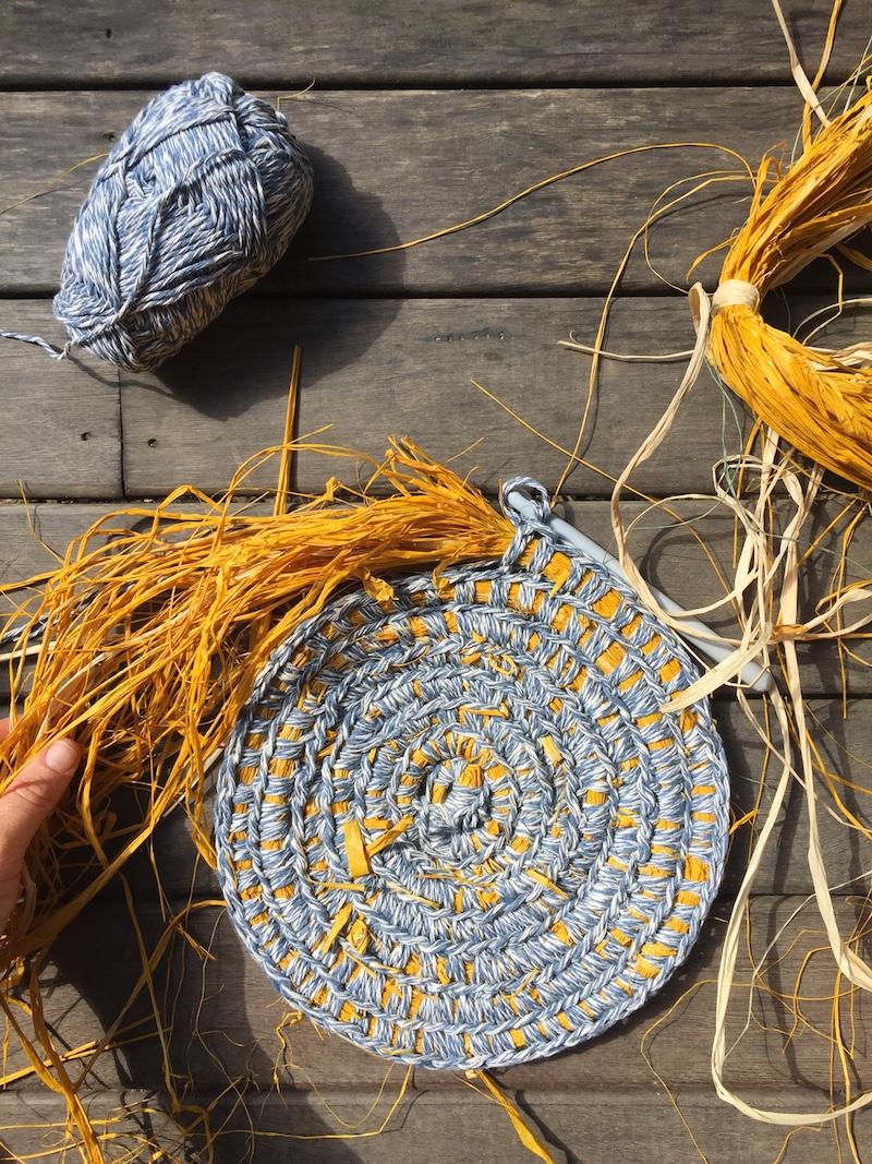 Crochet basket tutorial rafffia core filled by Petalplum Ellie Beck.JPG