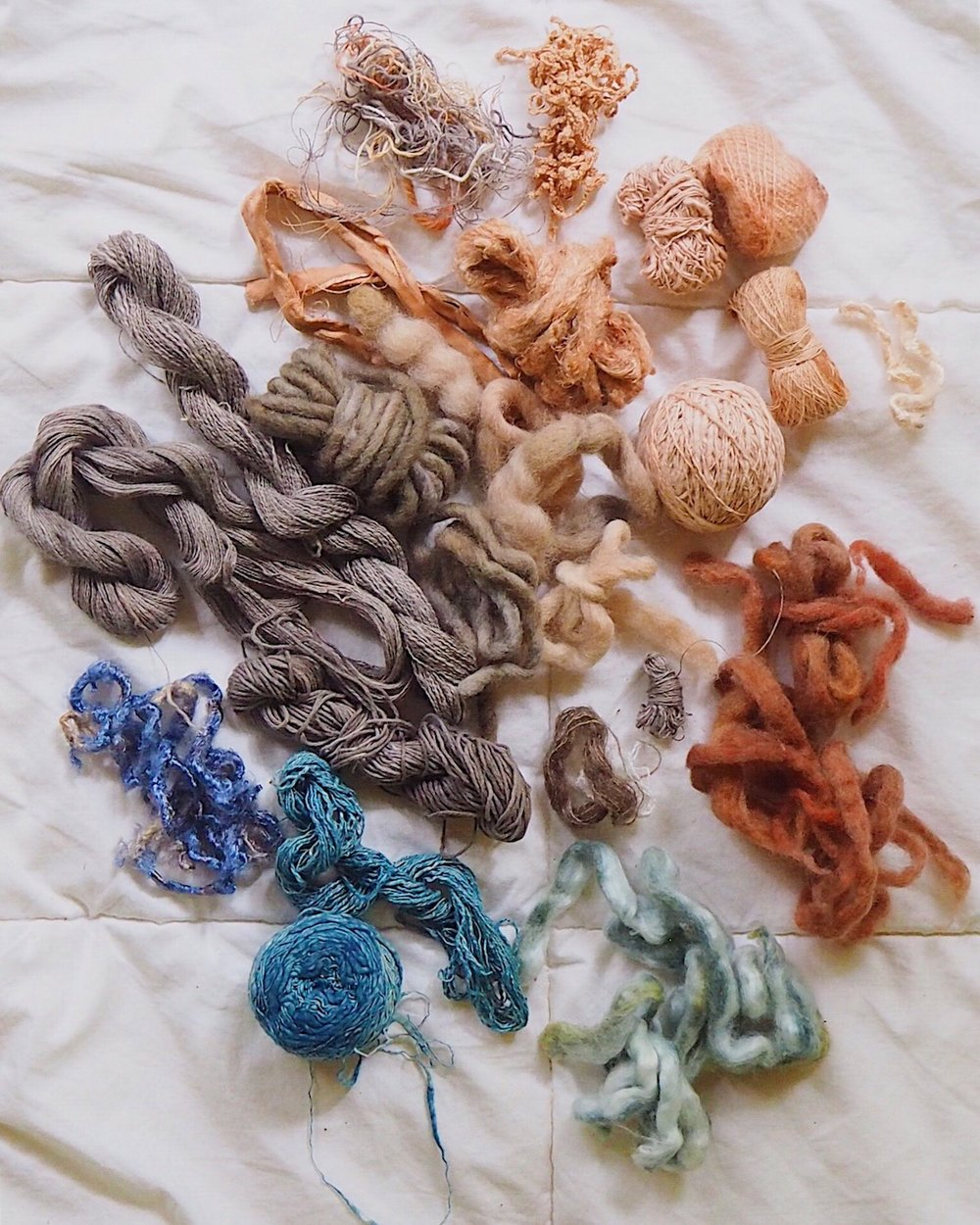 Ellie Beck Petalplum naturally dyed yarns for weaving.JPG