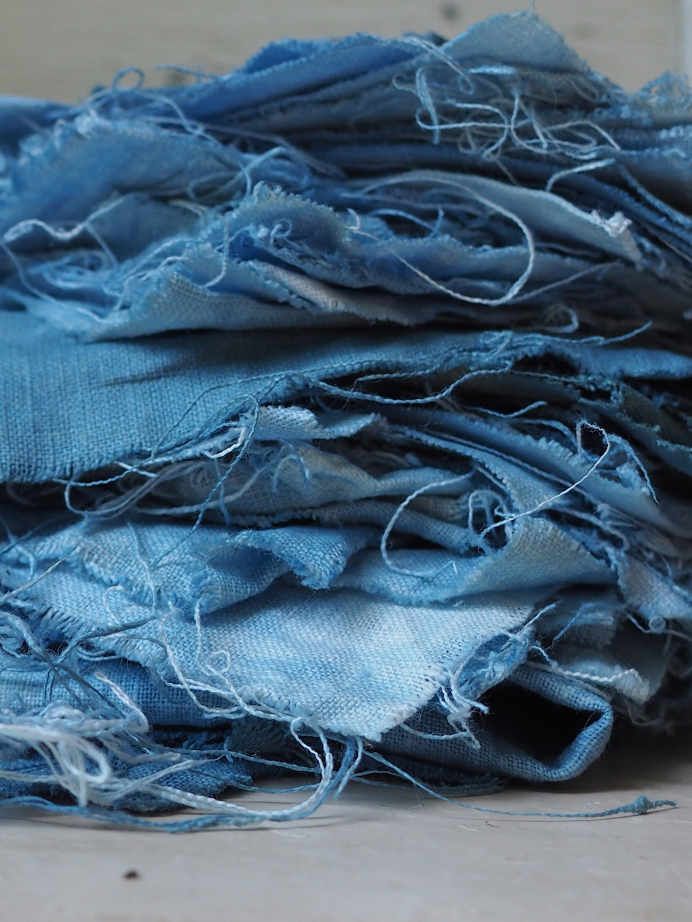 Indigo dyed linen. Naturally and botanically dyed fabric. Blue love. Ellie Beck Petalplum.jpeg