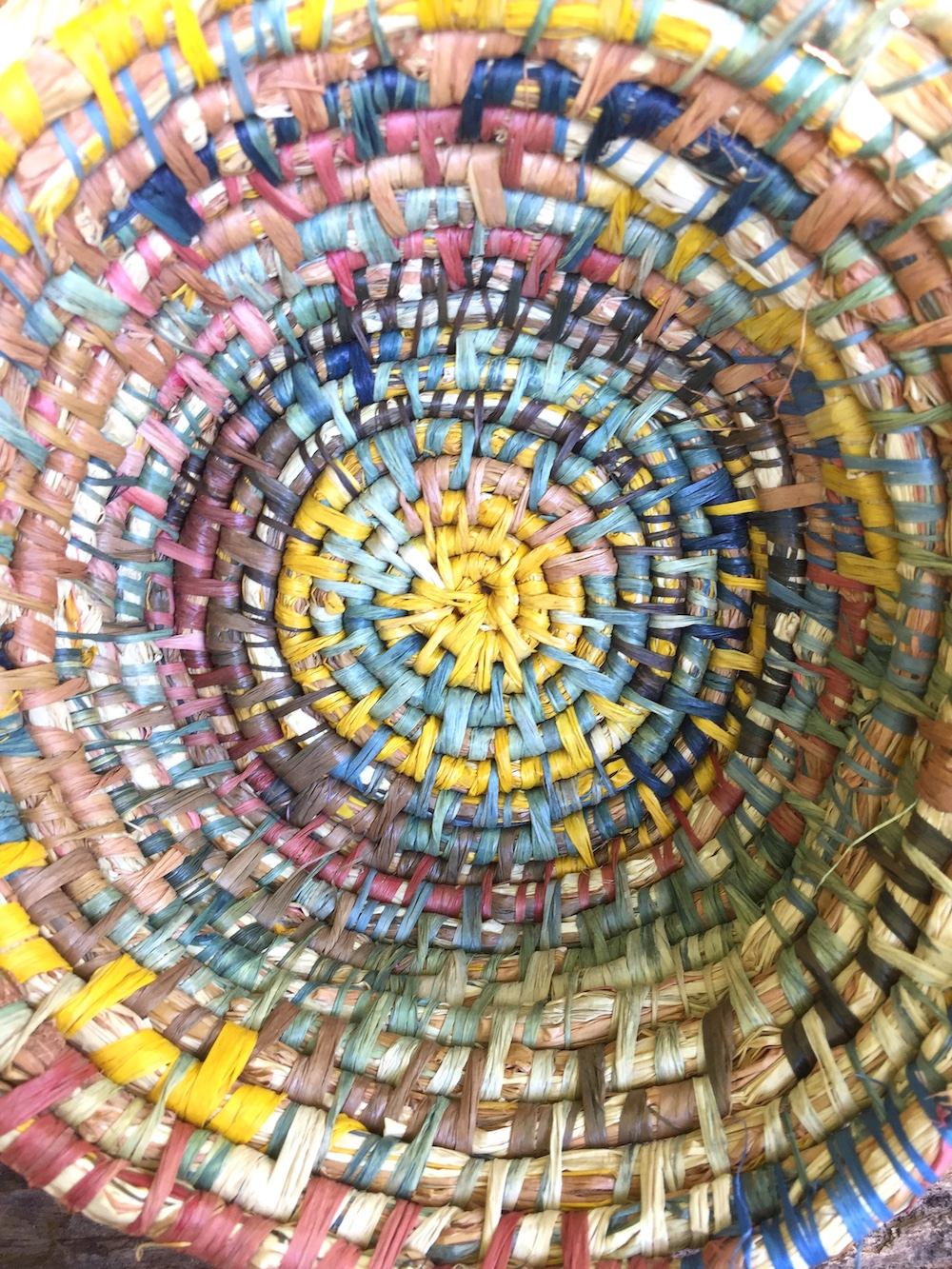 Ellie Beck Raffia Basket looking inside.JPG