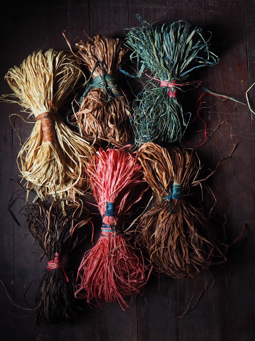 Petalplum blog naturally dyed raffia for basket weaving.jpg