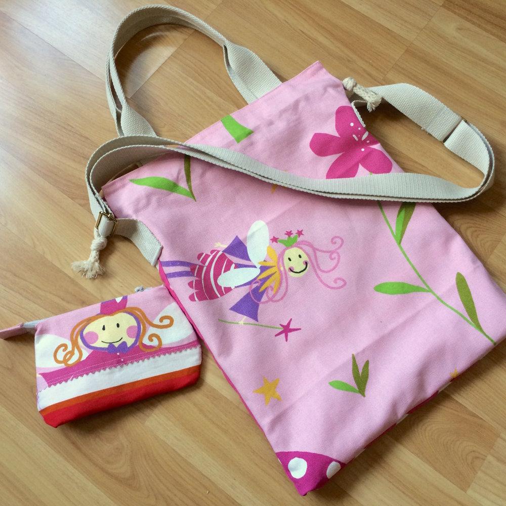 drawstring string bag + Purse -