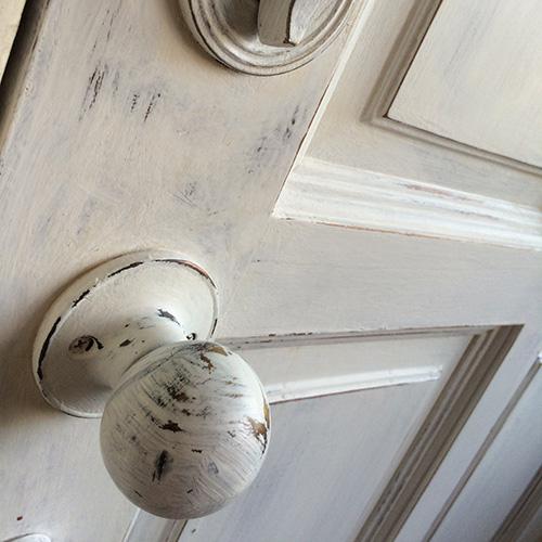 Our wooden Front door -
