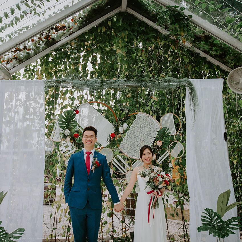 Ben + DAPHNE - Sweet Summer Botanical & Hoops Solemnization + Wedding