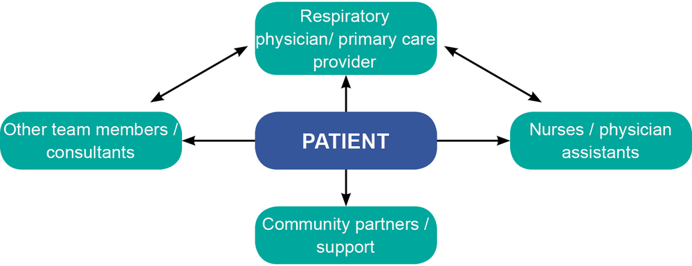 Figure 9: IPF multidisciplinary team (adapted from: ¹⁰)