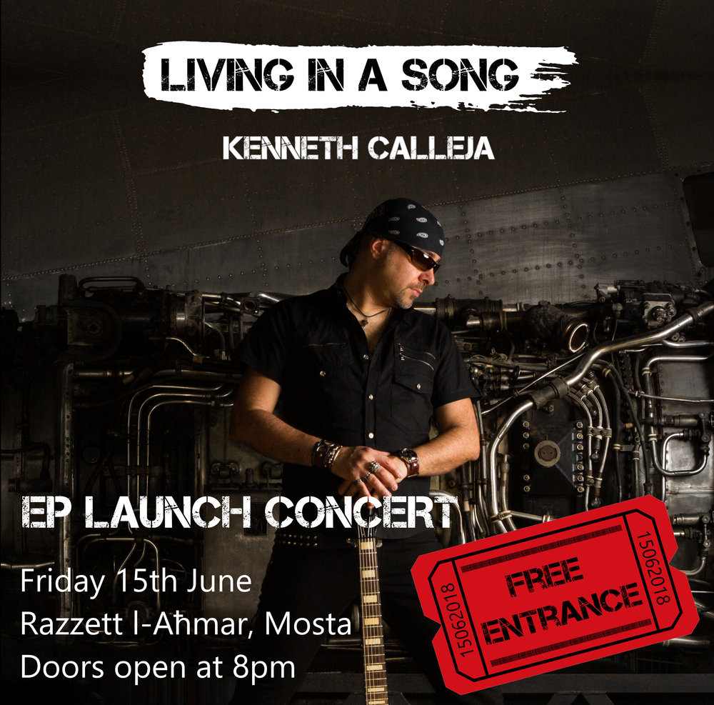 Rock music lovers are invited to join us with FREE ENTRANCE for The Living in a Song EP Launch which promises to be an unforgettable night of rock music. Kenneth's band will perform the highly anticipated songs from the Living in a Song EP as well as many all-time favourite rock classics.