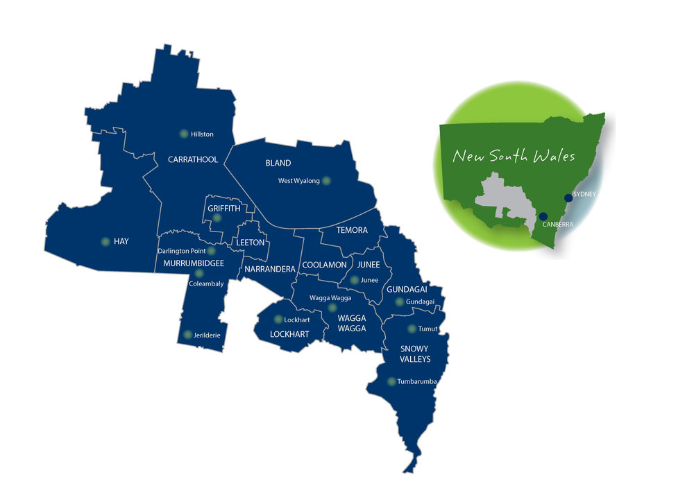 Map Of Australia Trackidsp 006.Our Region Regional Development Australia Riverina Nsw