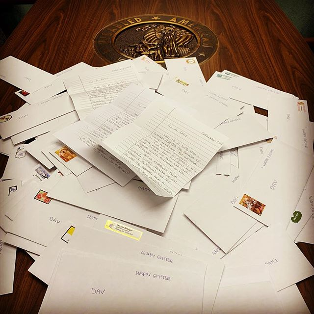 """An 🐰 Easter Gift 🐣 from a fan of Veterans! One man wrote 200 letters for our DAV families, and it reads a little something like... 📝 """"just wanted to address you once more. God bless you sir!... my father's brother served in Vietnam... and died there... our vets are great. Thank you for risking your life."""" . .  Our Vets ARE Great!!! . . . 🔊Join our family! ❤️The #DAV only gets stronger 💪🏽 once you decide to become a member today. Join and find a way that you feel best to help protect the rights and benefits of our own. 🚎 Volunteer Drivers... 📝Legislation... there's many ways to pay it forward—but we can't do it without you🕺🏽 . . . 🇺🇸 Click the link in our bio @DAVCalifornia to find out how!🦅👌🏽 . . . #Easter #DAVStrong #Disabled #American #Veterans #DisabledVeteran #Veteran #vets #Military #USMCVeteran #MarineCorpsVet #NavyVet #ArmyVet #AirForceVet #ArmyVeteran #NavyVeteran #AirforceVeteran #MarineCorpsVeteran #USMC #Marine #Army #Navy #Airforce #CoastGuard #NationalGuard"""
