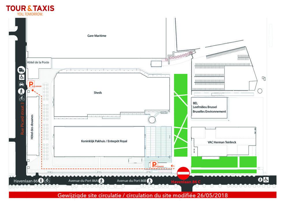 Attention entrée bloquée! - A cause de travaux sur l'avenue du Port l'entrée principale de Bruxelles environnement sera bloquée ce samedi matin, voici un plan d'accès pour vous y rendre facilement :Si vous venez en voiture, entrez par la rue Picard n°3. Si vous venez à pied (ou à vélo) les accès Avenue du Port 86A et 86B sont normalement accessibles. Dans tous les cas du personnel sera sur place pour vous guider.