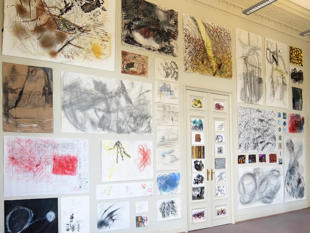 exposition atelier dessin : Salima Ayadi,Béatrice Broutout, Anne d'Hond, Sophie Meyers, Andrea Van Peteghem