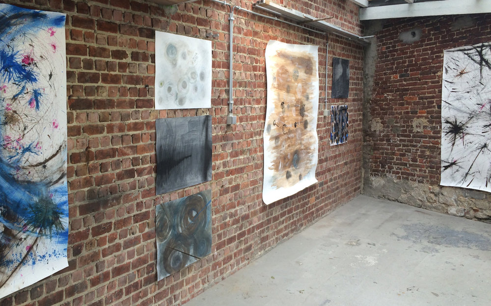 exposition de l'atelier dessin: Claudine Devillet,Elisabeth Verhoeven, Jean-Pierre Verhoeven