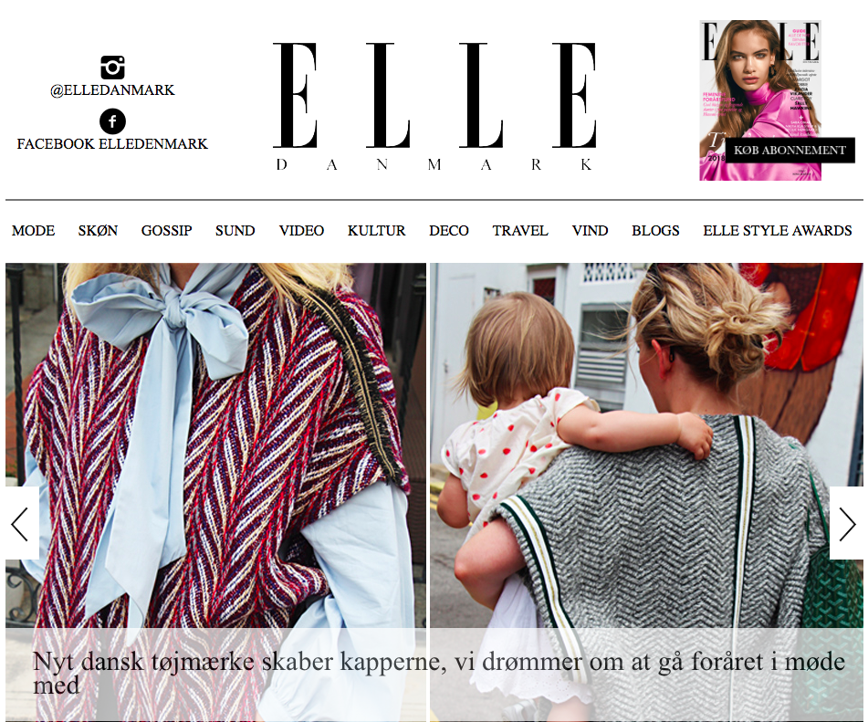 ELLE Denmark - See article HERE (in Danish)