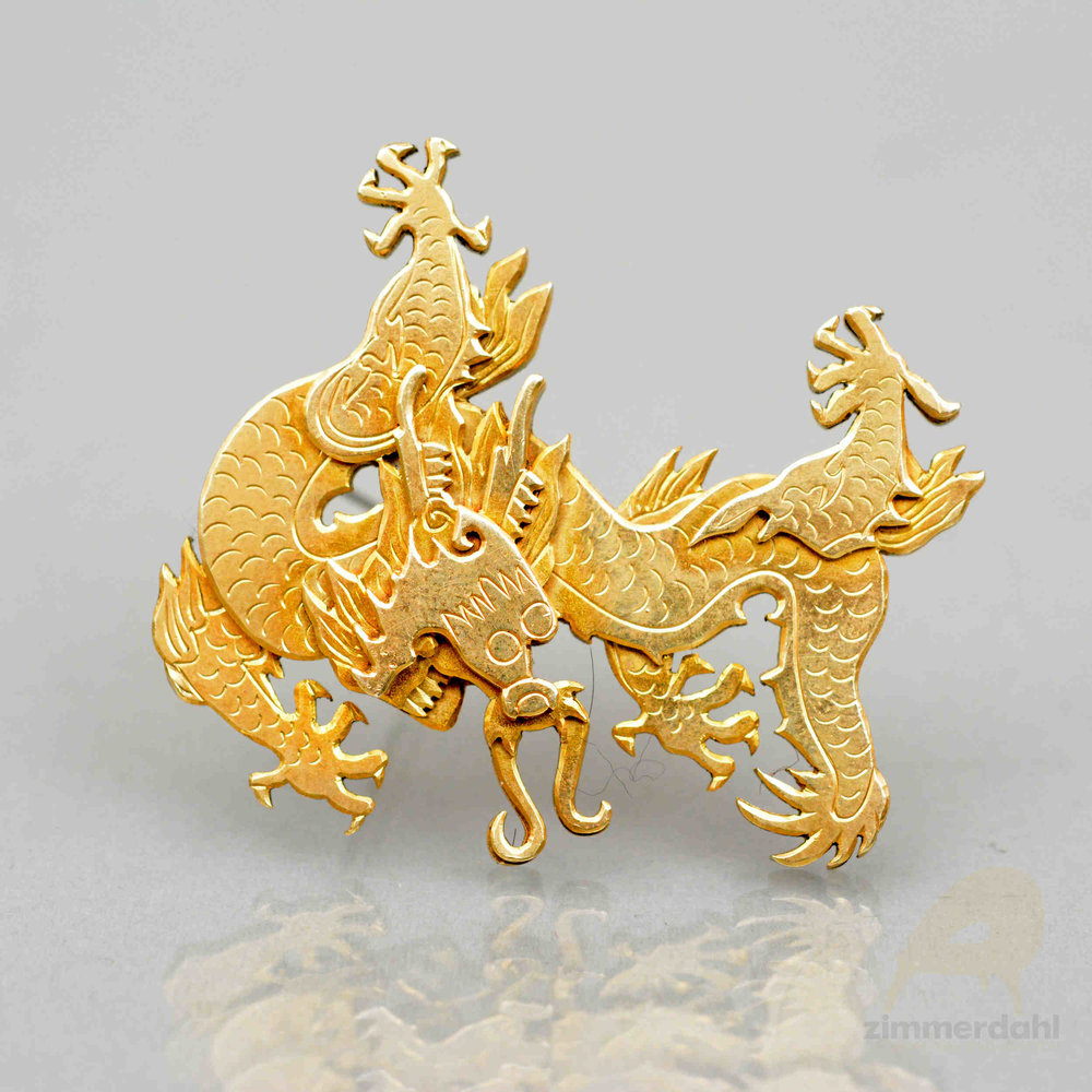 Dragon brooch by Wiwen Nilsson, Sweden