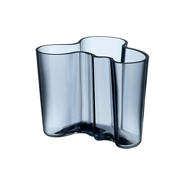 Savoy, 1937 - The Savoy vase by Alvar Aalto is designed to mimic the shape and movement of water in the sea. The vase remains an icon to this day. The vase was designed for the restaurant Savoy that still operates today in Helsinki.