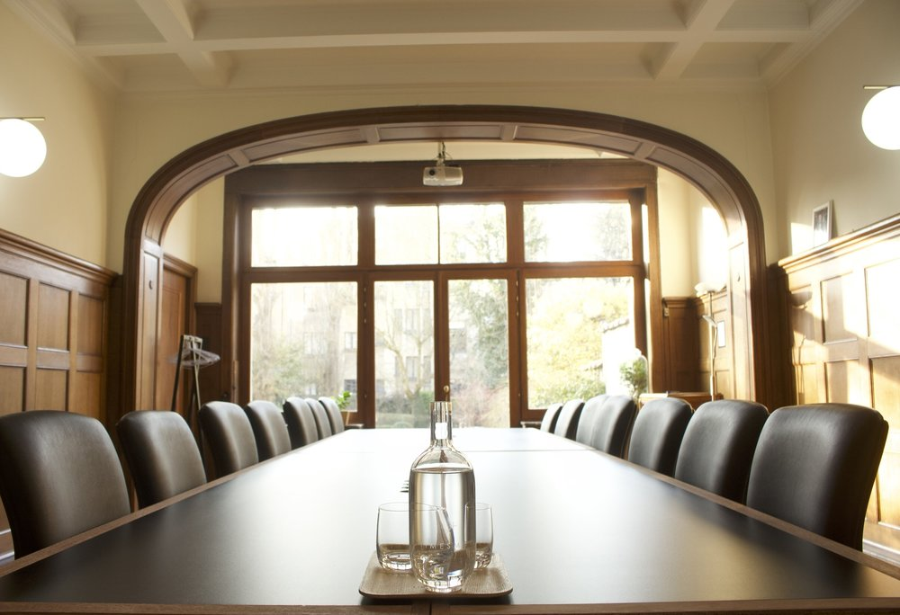 Garden room - Large boardroom overlooking the garden, fully-equipped for all kind of conferencing.