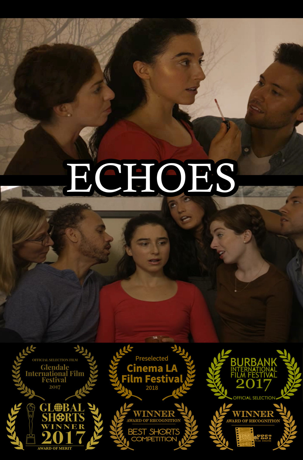 Echoes - Our first film, Echoes, tells the story of a young woman who struggles with meeting the expectations of others and being her own person.