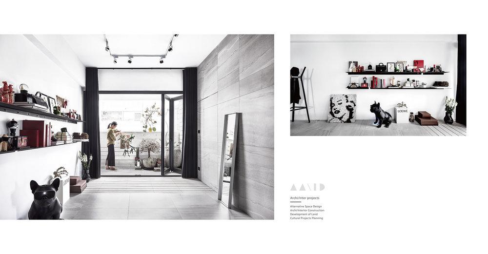 AAAID商業空間設計,室內設計,選物店辦公室